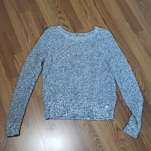 Womens M American Eagle cable sweater black white